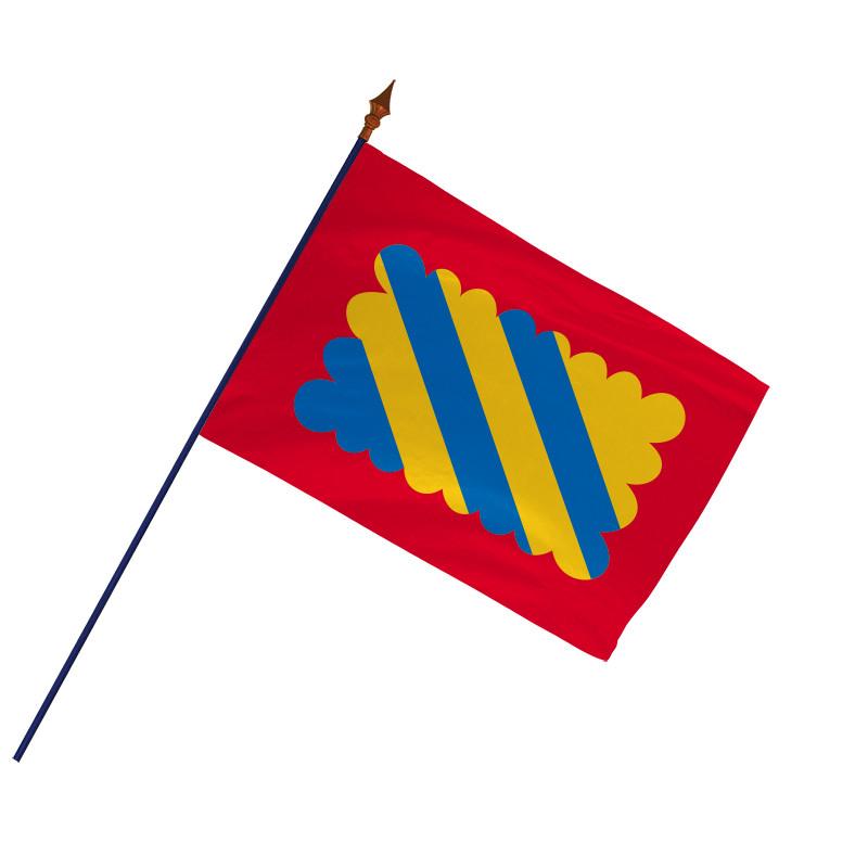 Drapeau Province Nivernais avec hampe et ourlets | MACAP