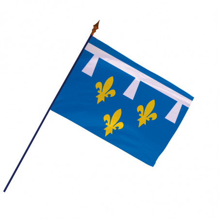 Drapeau Province Orléanais avec hampe et ourlets | MACAP