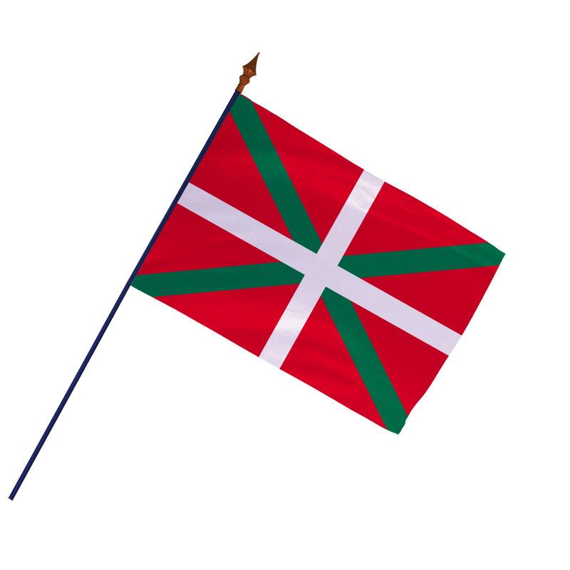 Drapeau Province Pays Basque avec hampe et ourlets | MACAP
