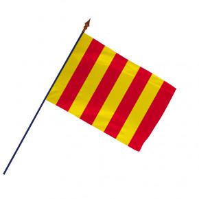 Drapeau Province Roussillon avec hampe et ourlets côtés | MACAP