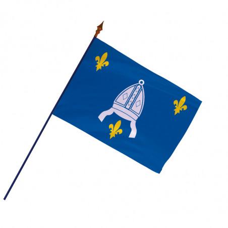 Drapeau Province Saintonge avec hampe et ourlets   MACAP