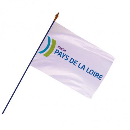 Drapeau Région Pays de la Loire avec hampe et ourlets | MACAP