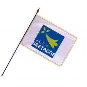 Drapeau Région Bretagne avec hampe , franges et galon or | MACAP