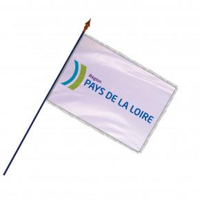 Drapeau Région Pays de la Loire avec hampe, frange et galon argent | MACAP