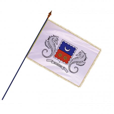 Drapeau Région Mayotte avec hampe, franges et galon or | MACAP