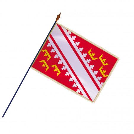 Drapeau Province Alsace avec hampe, franges et galon or| MACAP