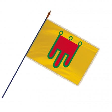 Drapeau Province Auvergne avec hampe, franges et galon or | MACAP