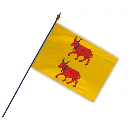 Drapeau Province Béarn avec hampe, franges et galon or | MACAP