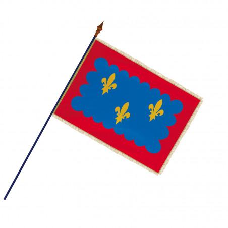 Drapeau Province Berry avec hampe, franges et galon or  MACAP