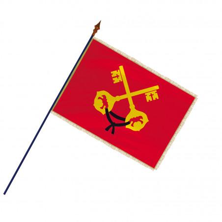 Drapeau Province Comtat Venaissin  avec hampe, franges et galon or   MACAP