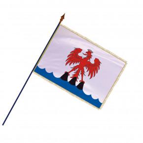 Drapeau Province Comté de Nice  avec hampe, franges et galon or | MACAP