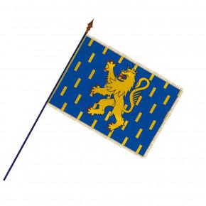 Drapeau Province Franche-Comté  avec hampe, franges et galon or | MACAP