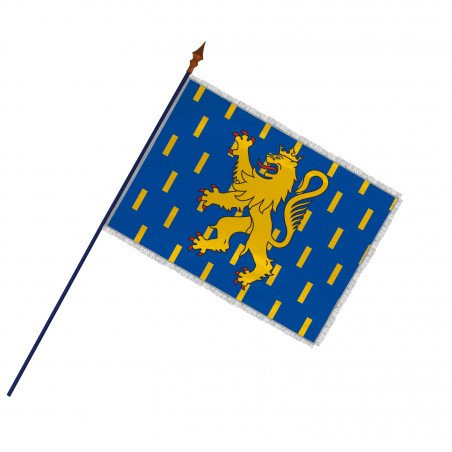 Drapeau Province Franche-Comté  avec hampe, franges et galon argent   MACAP