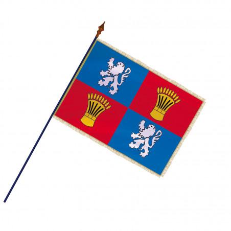 Drapeau Province Gascogne  avec hampe, franges et galon or   MACAP