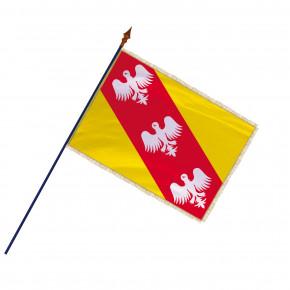 Drapeau Province Lorraine avec hampe, franges et galon argent | MACAP