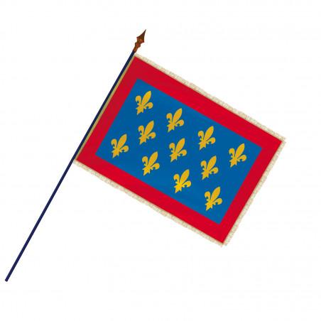 Drapeau Province Maine avec hampe, franges et galon or   MACAP