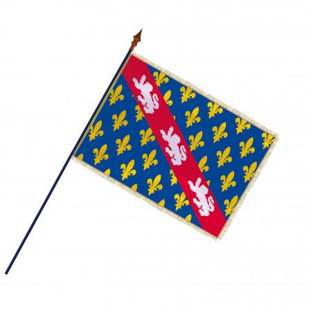 Drapeau Province Marche avec hampe, franges et galon or   MACAP