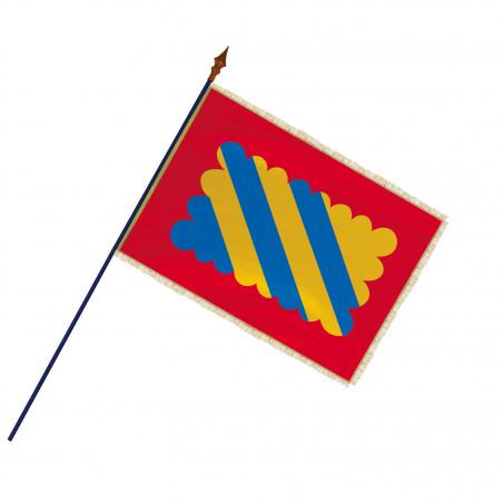 Drapeau Province Nivernais avec hampe, franges et galon or | MACAP