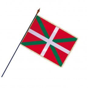 Drapeau Province Pays Basque avec hampe, franges et galon or | MACAP