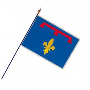 Drapeau Province Provence Lys avec hampe, franges et galon argent | MACAP
