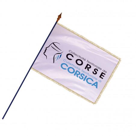 Drapeau Région Corse avec hampe et franges  or   MACAP