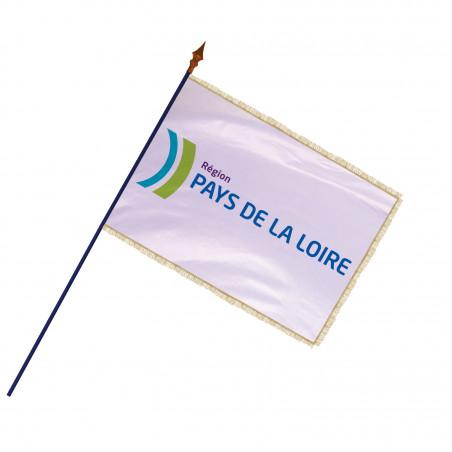 Drapeau Région Pays de la Loire avec hampe et frange or | MACAP