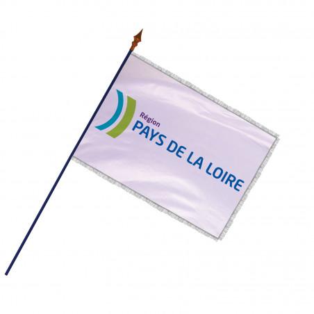 Drapeau Région Pays de la Loire avec hampe et frange argent | MACAP