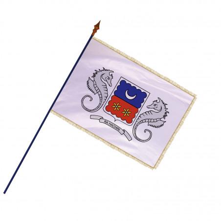 Drapeau Région Mayotte avec hampe et franges or | MACAP