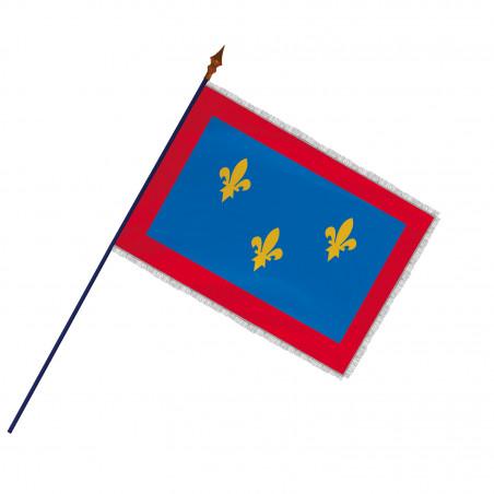 Drapeau Province Anjou avec hampe et franges et argent   MACAP