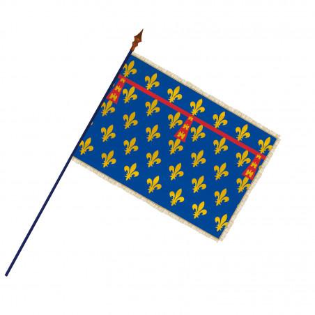 Drapeau Province Artois avec hampe et franges  or | MACAP