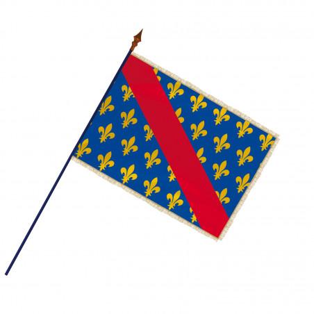 Drapeau Province Bourbonnais avec hampe et franges or | MACAP