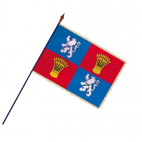 Drapeau Province Gascogne  avec hampe et franges or   MACAP