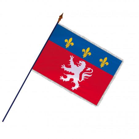 Drapeau Province Lyonnais avec hampe et  franges argent | MACAP