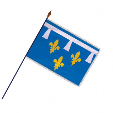 Drapeau Province Orléanais avec hampe et franges argent | MACAP