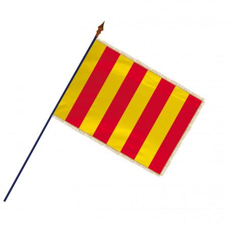 Drapeau Province Roussillon avec hampe, franges or | MACAP