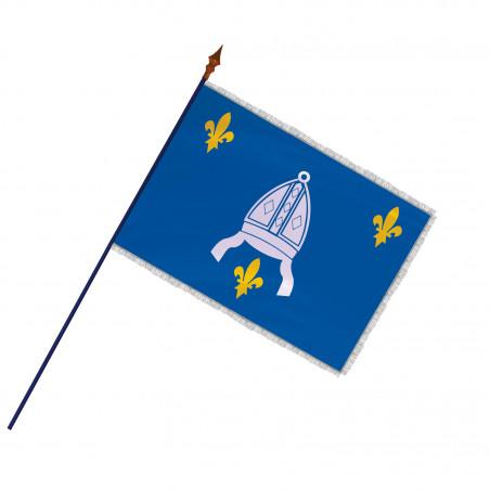 Drapeau Province Saintonge avec hampe, franges argent   MACAP