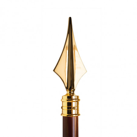 Hampe avec flèche  en laiton doré pour drapeau
