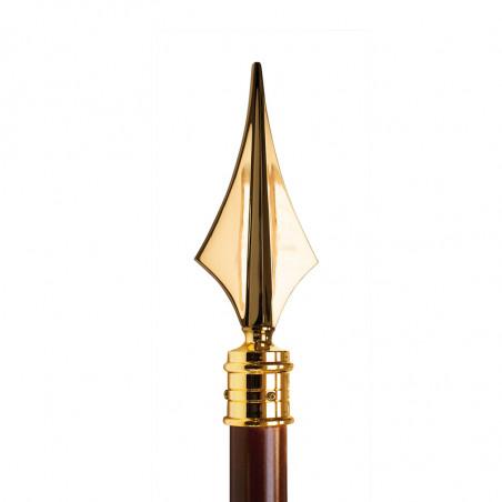 Hampe avec flèche  en laiton doré pour drapeau.