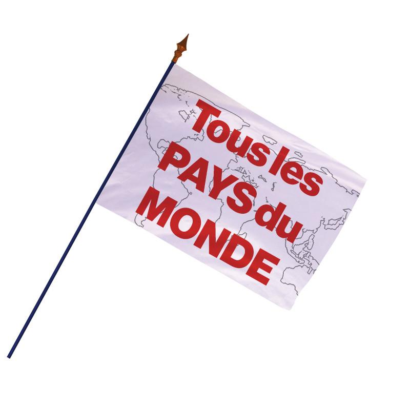 Drapeau des Pays du Monde - finition ourlets côtés -MACAP