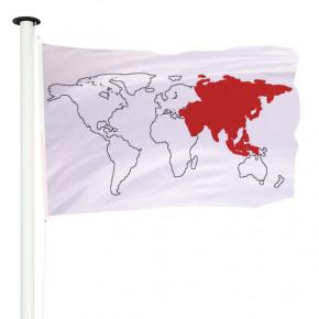 Drapeau Pavillon pour mât officiel des pays d'Asie - MACAP