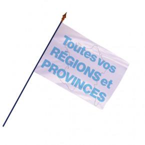 Drapeau des Régions et Provinces  - Finition ourlets côtés   MACAP