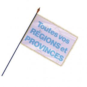 Drapeau des Régions et Provinces  - Finition frange filet et galon or   MACAP