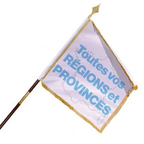Drapeau d'Ornement et de Défilé (Régions/Provinces) MACAP