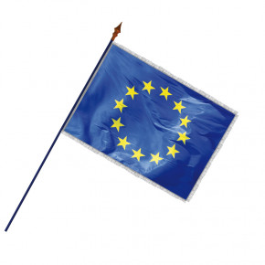 Drapeau Officiel Classique (Union Européenne) - frange filée argent galon argent -MACAP