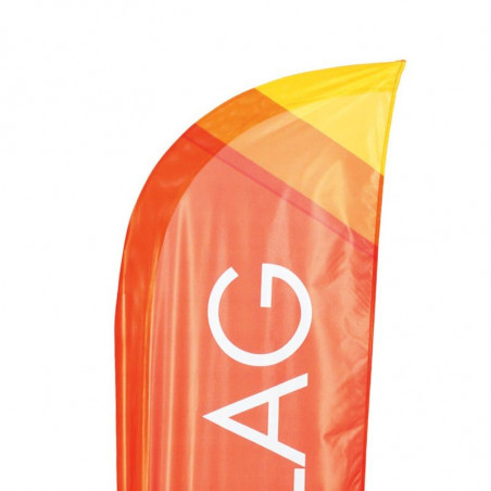 Beach flag - Oriflamme CLASSIQUE (KIT complet fourreau dans la maille) - vue haute flamme - MACAP