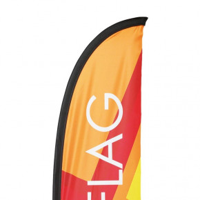Beach flag - Oriflamme LIGHT (KIT complet) - vue haute voile - MACAP