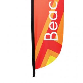 Beach flag - Oriflamme LIGHT ( VOILE SEULE ) - vue fixation basse -MACAP