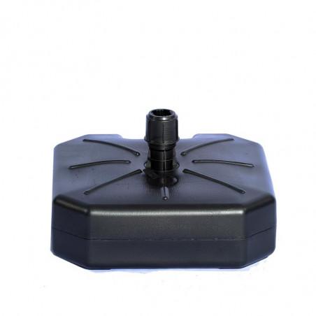 Pied Lestable 16 L (plastique noir) - vue côté  - MACAP
