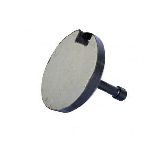 Pied en Béton noir 18KG - vue de dessous - MACAP