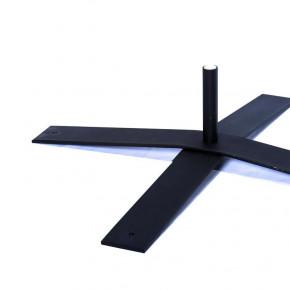 Pied en Croix (acier) - vue côté - MACAP